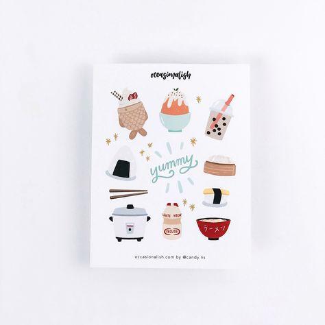 Asian Food Sticker Sheet