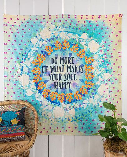 Do More O What Makes Your Soul Happy Tapestry By Natural Life