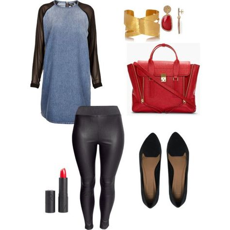 """""""Simple movie night PLUS size outfit"""" by ..."""