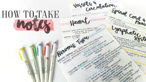 How To Take AWESOME NOTES & STUDY EFFECTIVELY!