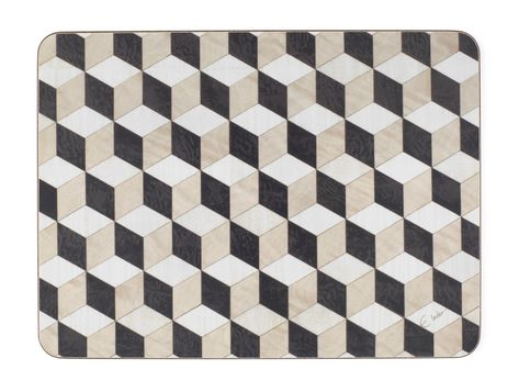 Table Mats Set Of 6 Large Heat Resistant Black Velvet From Capri Range Melamine Stylish Gift Ready To Dispatch With Dhl Express From Uk Large Table White Beige Geometric Art
