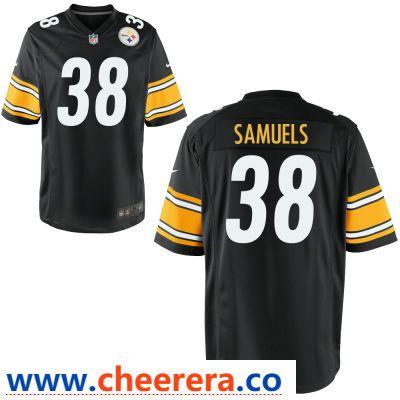various colors 2f2c5 723f9 Men's Pittsburgh Steelers #38 Jaylen Samuels Black Team ...