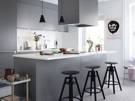 White and gray kitchen - 30 modern and elegant designs