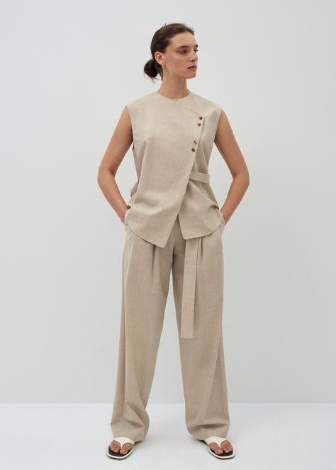 Ray sleeveless wool shirt - XS