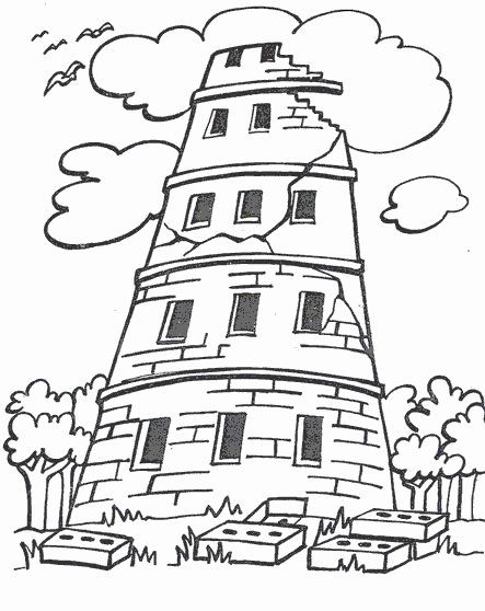 Tower Of Babel Coloring Page Awesome Pinterest The World S Catalog Of Ideas In 2020 Tower Of Babel Bible Coloring Pages Bible Coloring
