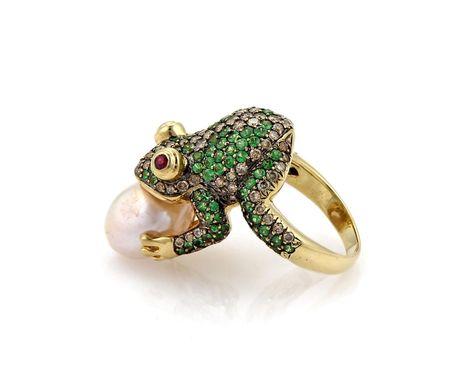 Princess Kylie 925 Sterling Silver Mini Frog Symbol Ring
