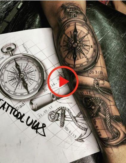 Motive kompass tattoos männer Sprüche kompass