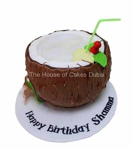 Incredible Image Result For Coconut Shaped Cake With Images Dessert Funny Birthday Cards Online Alyptdamsfinfo