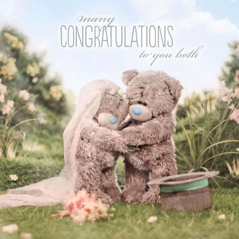 Me to You for My Gorgeous Wife 3D Hologram Teddy Bear Anniversary Card Tatty New