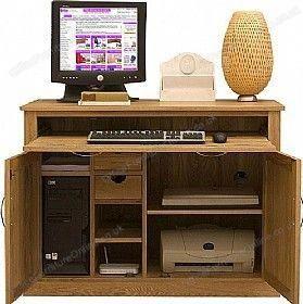Cavalli Solid Oak Computer Desk Hideaway 494 Computer Desks Homeofficecomputerdeskdrawers Meuble Ordinateur Meuble Imprimante Meuble