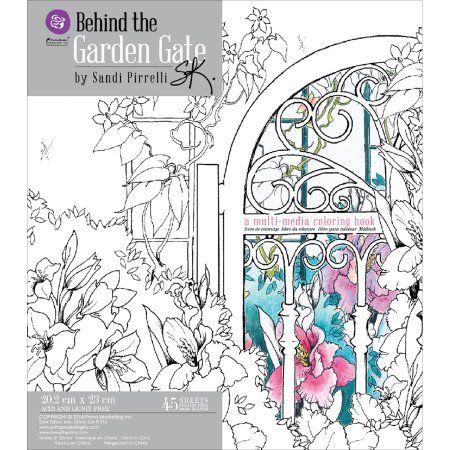 Prima Coloring Book Behind The Garden Gate 45 Sheets Walmart Com Coloring Books Marketing Colors Garden Gates