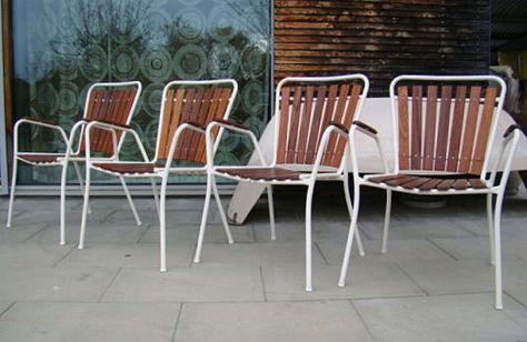 60er Bks Made In Denmark Gartenstuhl Stuhle Stahlrohrstuhle
