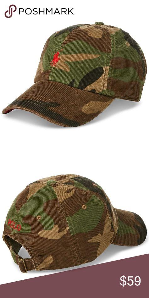 Polo Ralph Lauren Mens Snapback Corduroy Camo Hat Plush corduroy meets a  rugged camo print to make this Polo Ralph Lauren baseball cap a versatile  accessory ... c5106c3777ad