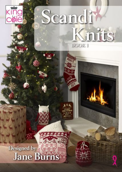 King Cole DK christmas accessories Knitting pattern wreath stocking cushion 5378