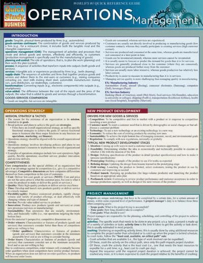 Ravi Behara new books Operations Management (Quick Study: Business) read online