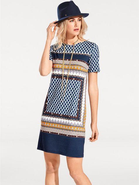 a3690ad35c5 Vous aimez les robes fluides   Vous adorerez encore + celle-ci avec son  imprimé géométrique !  tissugéomérique  robeimprimée  robedroite  robefluide