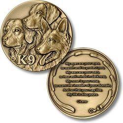K9 Tribute Coin Irish Symbols Coins Dogs