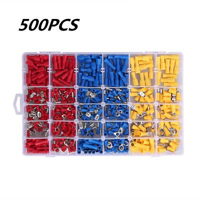 500pcs Assorted Crimp Terminals Set Insulated Electrical Wiring Connector Kit Ebay In 2020 Electrical Wire Connectors Electrical Wiring Connector