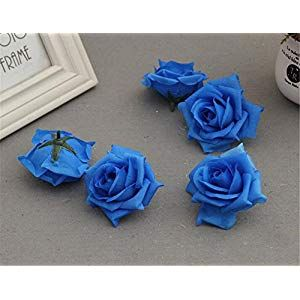 Isadenser 100 Pack Roses Flower Head Artificial Flowers Heads For Wedding Flowers Accessorie Silk Flower Arrangements Artificial Roses Silk Flowers