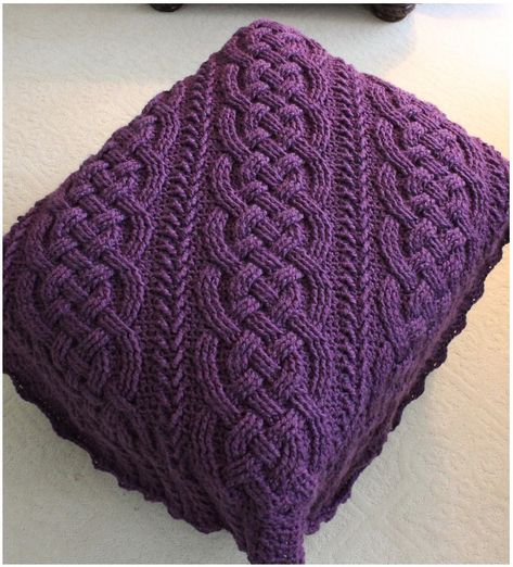 This stunning crochet cable afghan has intricate cables in the middle and in the Afghan borders. It is cozy and warm, perfect for the winter. This tutorial co