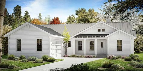 Plan 58554SV: Comfortable Cottage