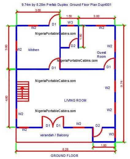 Image Result For Free Sample Image Of Home Exterior Designs In Lagos Nigeria Duplex Floor Plans Duplex House Plans Free House Plans