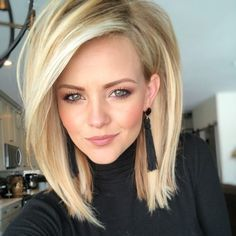 Hair Beauty - Exellent Straight Hair StylesStraight Hair Cuts Sophisticated Hairstyles For Straight Locks throughout ucwords] Hairstyle Inverted Bob Hairstyles, Long Bob Haircuts, Hairstyles Haircuts, Straight Hairstyles, Updos Hairstyle, Wedding Hairstyles, Vintage Hairstyles, Med Length Hairstyles, 2018 Haircuts