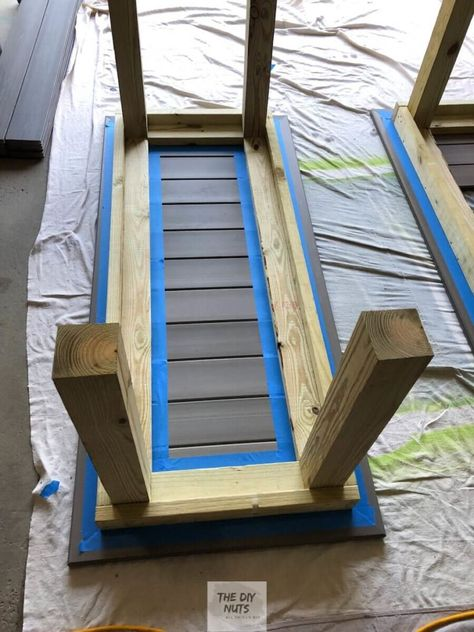 DIY Outdoor Table: What to do with leftover composite decking? - The DIY Nuts outdoor table DIY Outdoor Table: What to do with leftover composite decking? - The DIY Nuts Diy Outdoor Table, Diy Outdoor Furniture, Patio Table, Picnic Table, Outdoor Dining, Diy Furniture, Deck Patio, Diy Deck, Furniture Layout