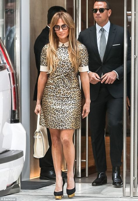 9375dbd33b8 Power couple coming through  Jennifer Lopez and Alex Rodriguez were out in New  York on Friday garnering plenty of attention as they stepped out of a ...