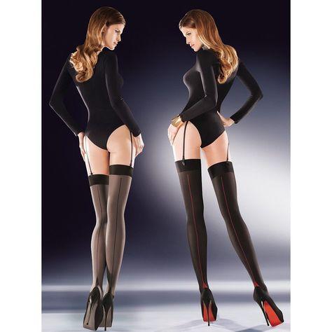 Bas sexy couture talon Cubain pour porte-jarretelles Gabriella cruze 20  deniers adfb8c6fb4a