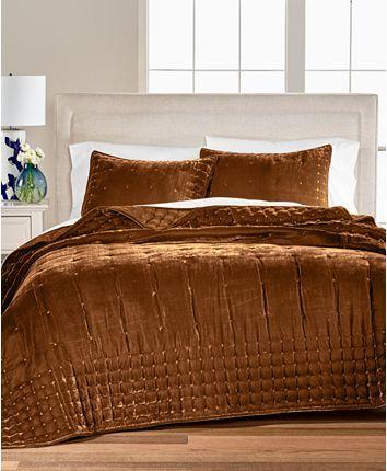Martha Stewart Collection Tufted Velvet Full Queen Quilt Created For Macy S Reviews Quilts Bedspreads Bed Queen Quilt Mattress Furniture Velvet Quilt