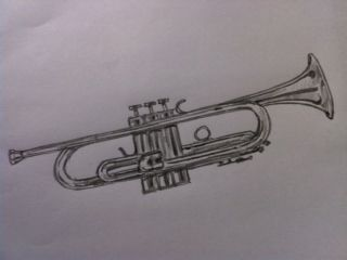 how to draw a trumpet trumpets tattoo and drawings