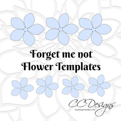 Classic forget me not flowers Templates and tutorial WHATS