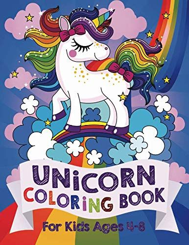 Unicorn Coloring Book For Kids Ages 4 8 Us Edition Kids Coloring Books Unicorn Books Coloring Books