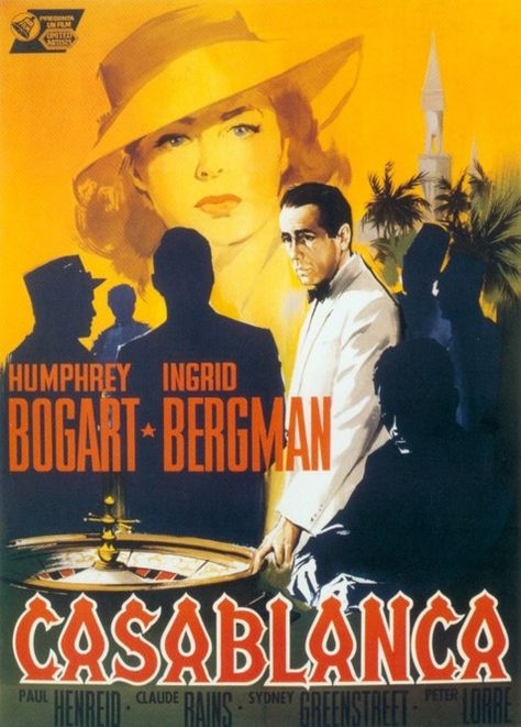 Casablanca movie poster, 1942-BLC-never seen this movie in it's entirety.  I've seen the beginning, the middle and the end but not in one sitting.