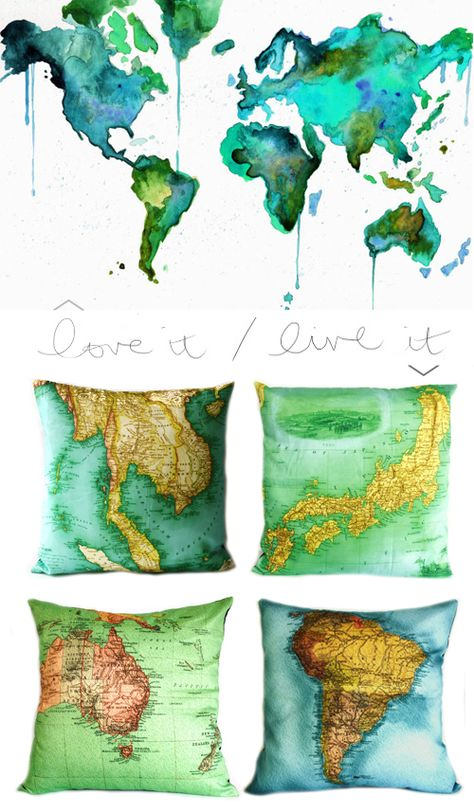 Maps on Cushions