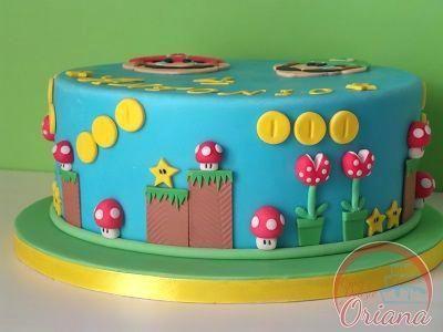 Outstanding Super Mario Birthday Cake Ideas Bros Bros Cake Super Mario Personalised Birthday Cards Akebfashionlily Jamesorg