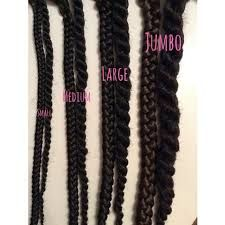 Image Result For Box Braids Size Chart Natural Hair In 2019 Pinterest Black And Hairstyles