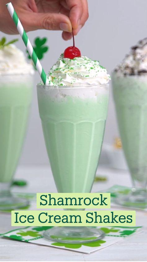 Shamrock Ice Cream Shakes