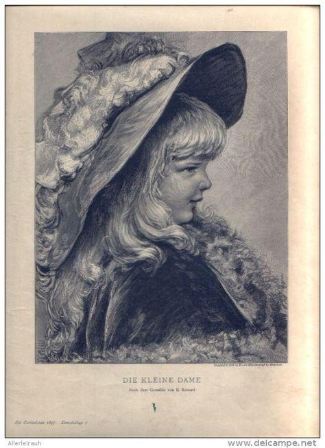 """Die kleine Dame  - Druck, entnommen   aus """"die Garlaube"""", 1897"""