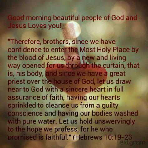 Image result for hebrews 10: 19-23 kjv