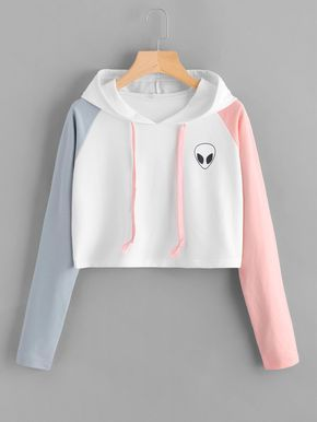 Shop Alien Print Contrast Sleeve Hoodie online Australia,SHEIN offers huge selection of Sweatshirts more to fit your fashionable needs.