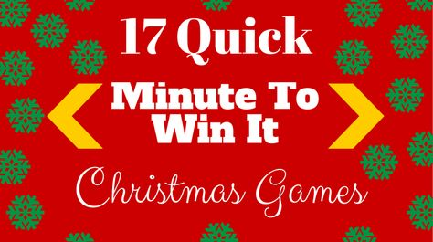 Minute To Win It Christmas.17 Quick Minute To Win It Christmas Games For Your