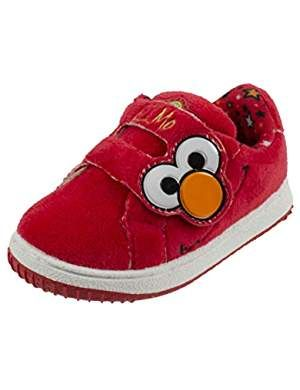 cde9b488a7b33 Elmo and Cookie Monster Baby Shoes with Strap, Infant & Toddler Size ...