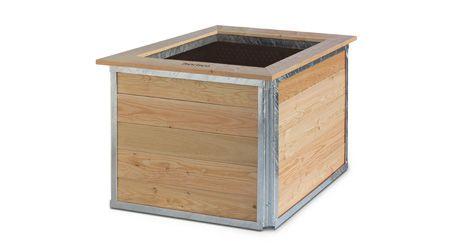 Hortico S Quadratisches Hochbeet 100 X 100 X 75 Cm Hochbeet Hochbeet Bausatz Beete