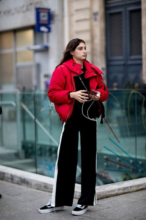 Sporty Outfits : Description Click through to see our favorite street style looks fresh from Paris and get some much-needed late-winter wardrobe inspo.
