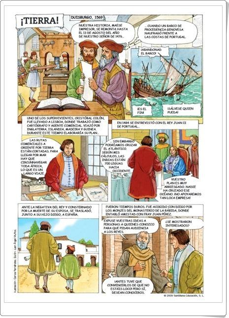 Comic Tierra Historia De Cristobal Colon Cristobal Colon Para Ninos Conquista De America