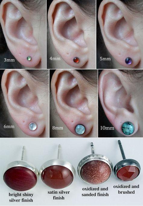 amethyst 4mm sterling silver stud earrings pair