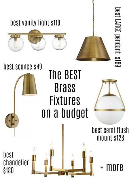 New Brass Pendants From A Surprising Source Plus My Favorite Budget Friendly Brass Light Fixtures Brass Light Fixture Brass Lighting Victorian Furniture Decor