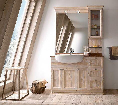 Mobile Bagno country lavabo semincasso Diamante DM9 | Bagni ...